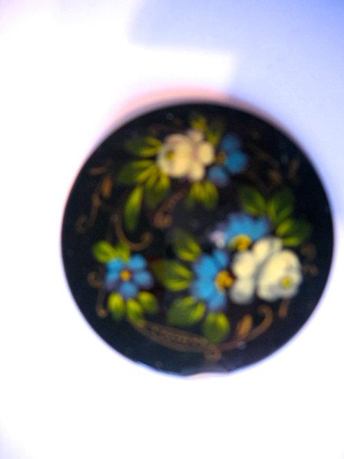 Broche de métal russe   : bleu et blanc réf.001