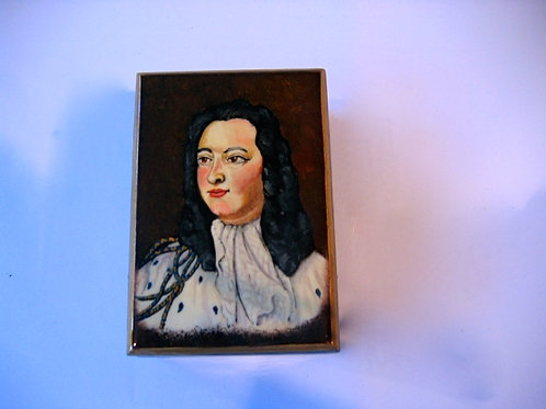 Boîte en bois peinte à la main - Louis XV