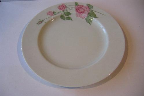 Assiette de porcelaine - décor rose