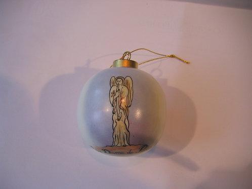 Boule de Noël peinte à la main voir face et recto.