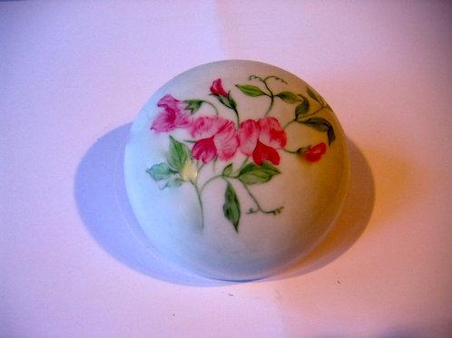 Presse papier de porcelaine décor pois de senteur