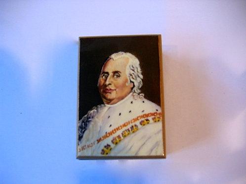 Boîte en bois peinte à la main - Louis XVIII