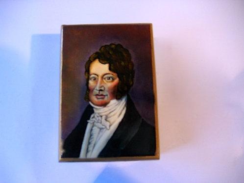 Boîte en bois peinte à la main - Louis Philippe