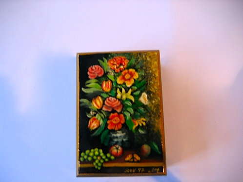boîte peinte à la main Nature morte N° 12