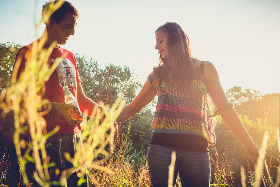 Golden-Hour Engagement Shoot at Paradise Farm