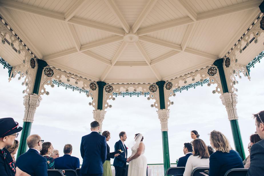Brighton Bandstand to Back-Garden Idyll - Seaside/Garden Party Vegan Wedding