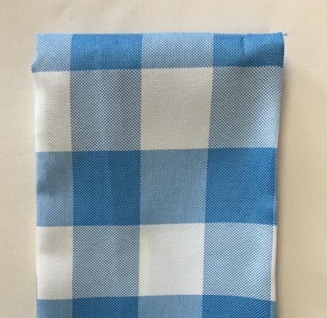Baby Blue Gingham Polyester Napkin