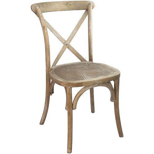 Natural w/ White Grain X-Back Chair