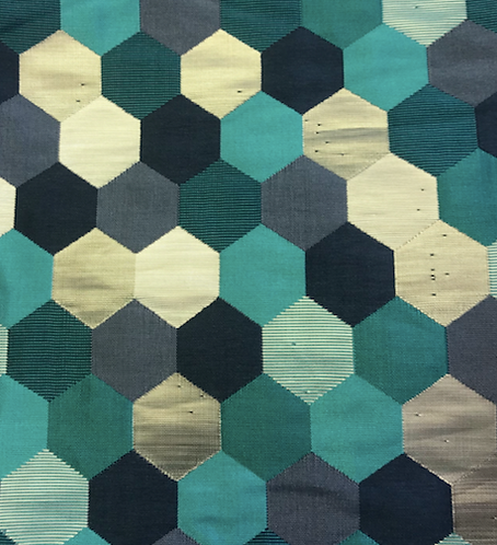 """132"""" Blue Hexagon Round"""