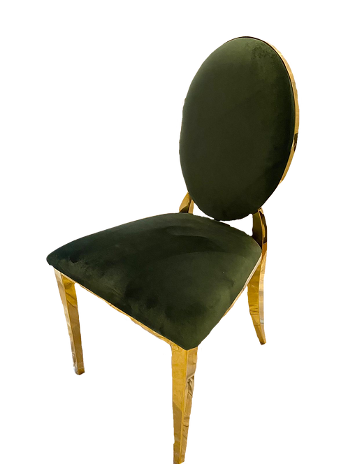 Gold Cartier Hunter Green Chair