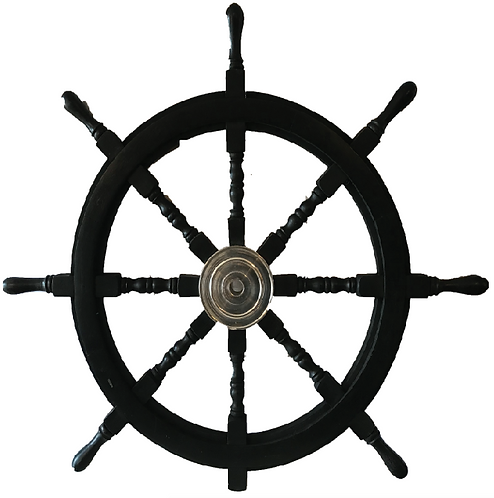 """Nautica"" Extra Large Black Steering Wheel"