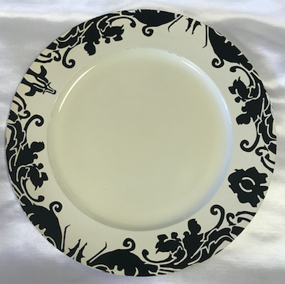 Damask Acrylic Round Charger Plate