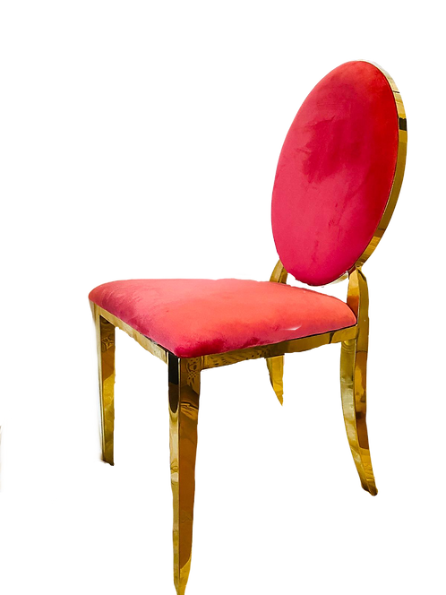 Gold Cartier Fuchsia Chair