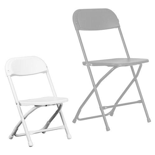 White Plastic Folding Chair - Kids