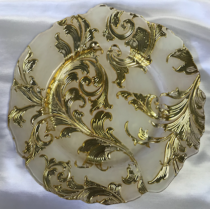 Rococo Glass Round Charger Plate
