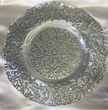 Mosaic Glass Round Charger Plate