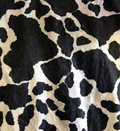 Cowhide Overlay Topper