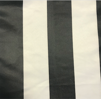 Black and White Striped Satin Table Runner