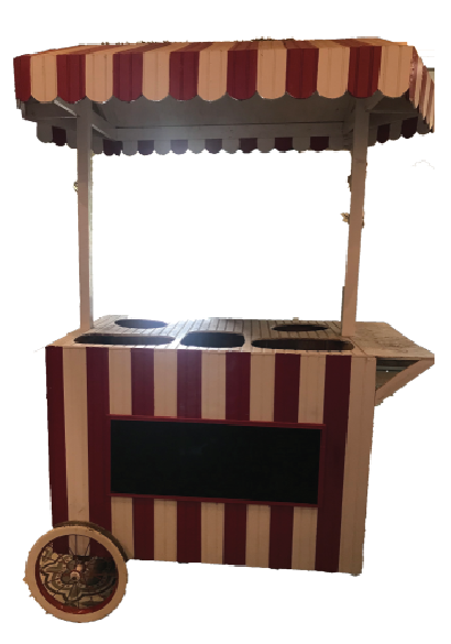Red Large Striped Cart