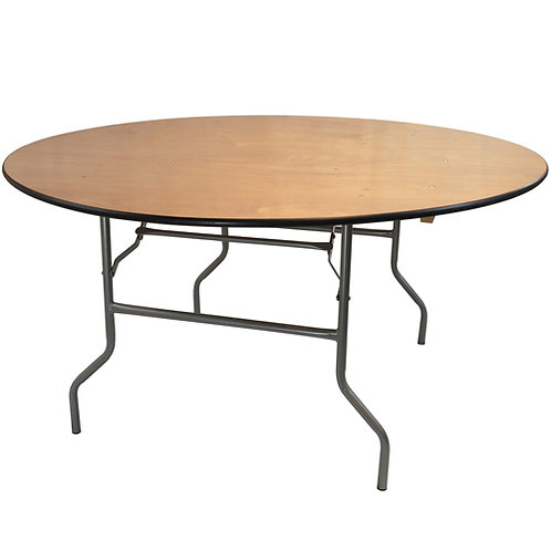 5' Wood Round Table