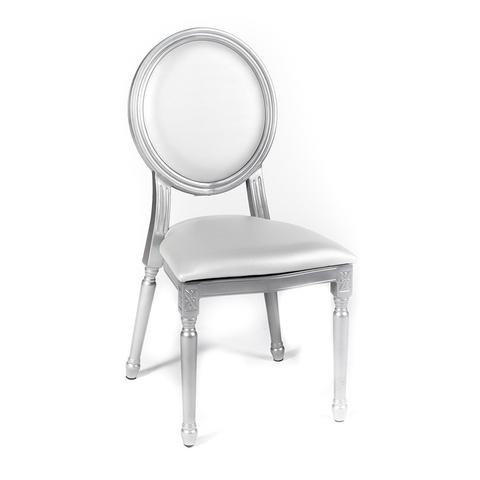 Silver Louis XV Medallion Chair