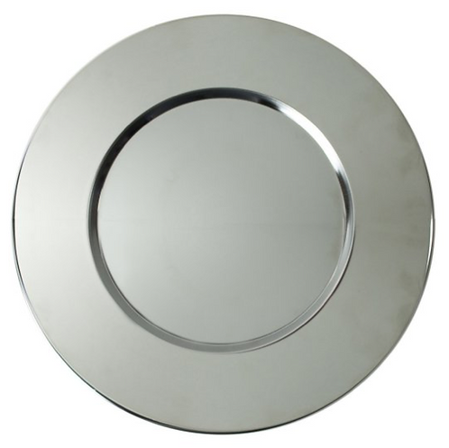 Silver Metal Round Charger Plate