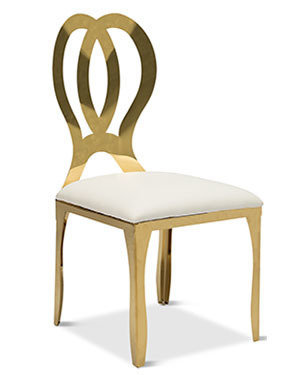 Gold Infinity Ivory Chair