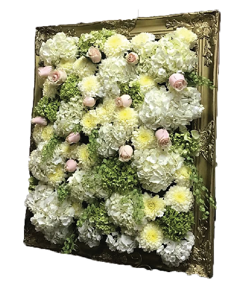 Fresh Floral Welcoming Frame
