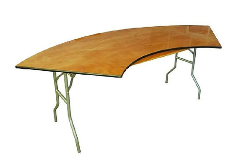 6' Serpentine Wood Table