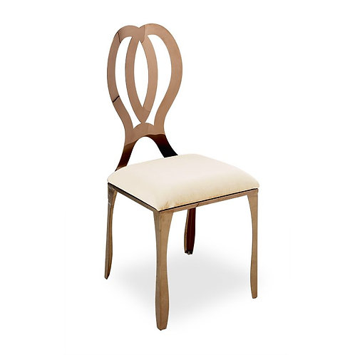 Rose Gold Infinity Ivory Chair