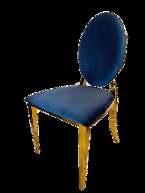 Gold Cartier Royal Blue Chair