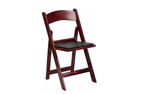 Mahogony Red Garden Folding Chair