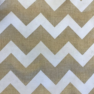 Chevron Burlap Table Runner