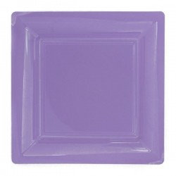 Lilac Acrylic Square Charger Plate