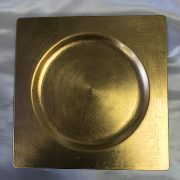 Gold Acrylic Square Charger Plate