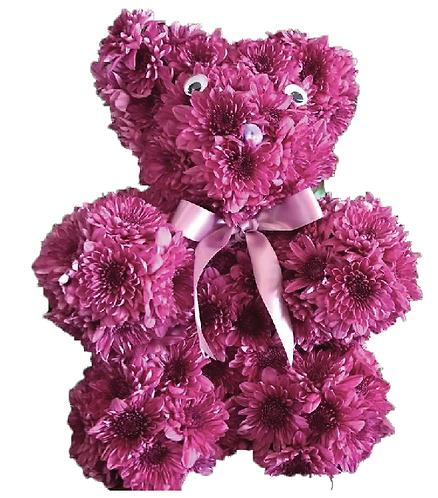 Fresh Floral Teddy Bear