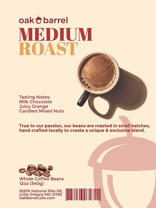Medium Roast Whole Coffee Beans