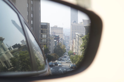 Driving through San Francisco