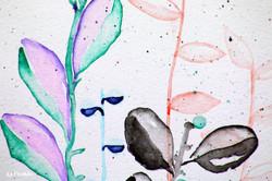 """detail, """"Gouache Plants"""""""