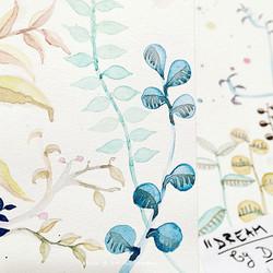 """detail """"Gouache Plants"""""""