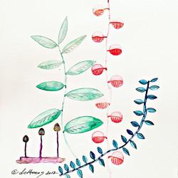 watermark red plants