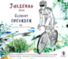 Clément Chevrier cycliste professionnel Cuvée Juliénas   Sarah PONCEBLANC Illustratrice