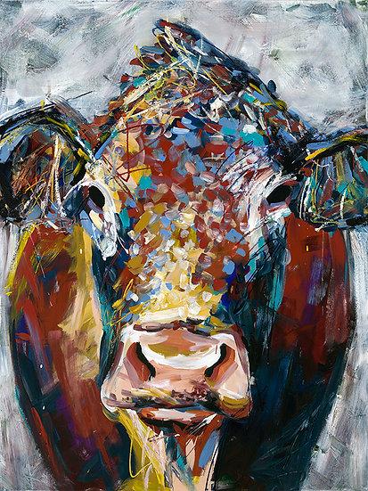 Cow Portrait Print