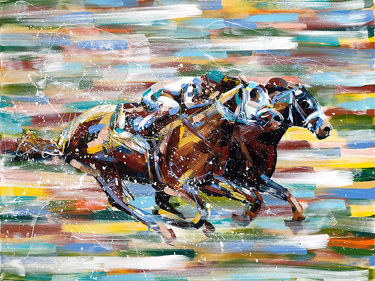 Horse Race Print