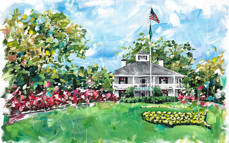 Augusta National Clubhouse Print