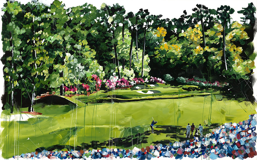 12th Hole Tee Off Print