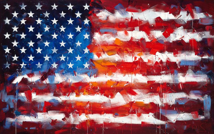 American Flag Print