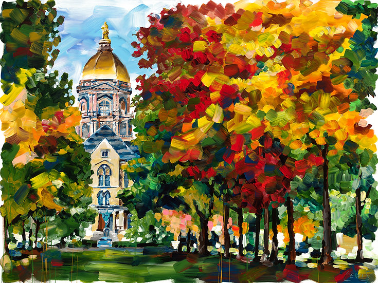 Golden Dome in Fall Giclee
