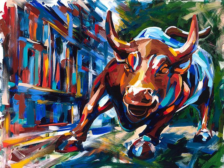 Wall Street Bull Print