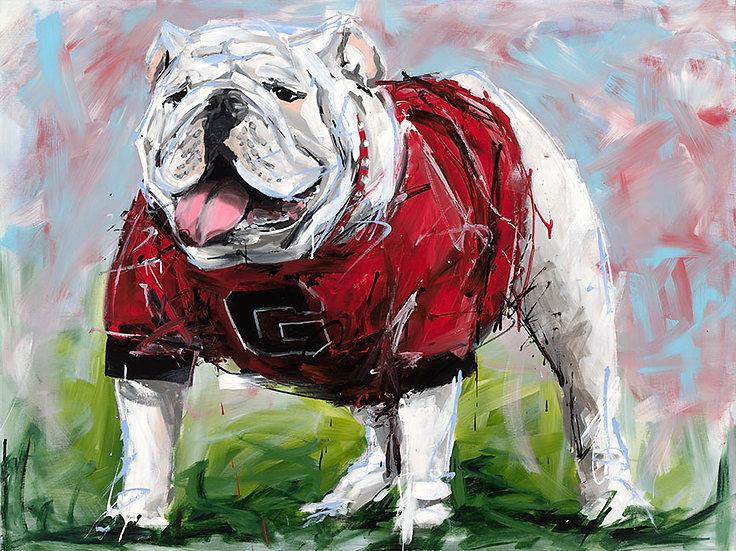 Uga Bulldog Print
